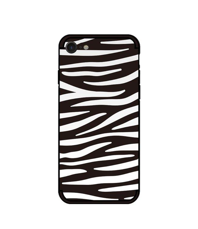 NXE Softcase voor iPhone 7 - iPhone 8  met zwart witte zebra print