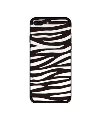 NXE Softcase voor iPhone 7 plus - iPhone 8 plus  met zwart witte zebra print