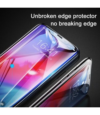 Baseus 0.23mm Tempered Glass Screen Guard Film met anti barst resistante hoeken - iPhone Xs Max - ZWART