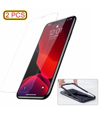 Baseus 0.3mm Curved Tempered Glass screen protector voor  iPhone XR (met installatietool)(2 stuks)