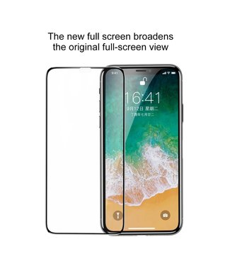 Baseus 0.3mm Silk Print Full Glue Tempered Glass Full Screen Protector voor  iPhone XS 5.8 inch - iPhone X