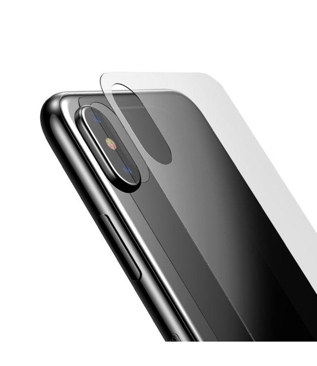 Baseus Tempered Glass Film voor bescherming achterzijde iPhone XS / X 5.8 inch - Transparent