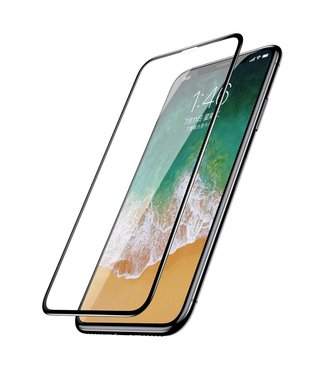 Baseus 0.2mm 9H Full Size Curved Tempered Glass Screen Protector voor iPhone  XS / X 5.8 inch - zwart