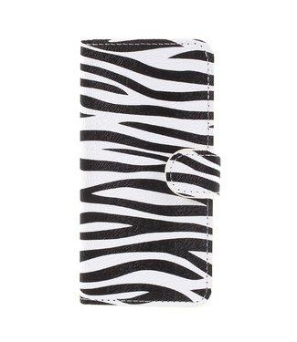 ZWC Leren Wallet Case - iPhone 7 - iPhone 8 - Zebra print