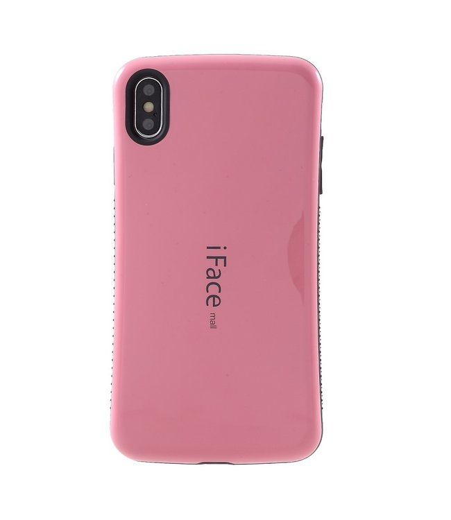 ZWC TPU hybride semi softcase voor iPhone XS Max 6.5 inch - Roze - iFace