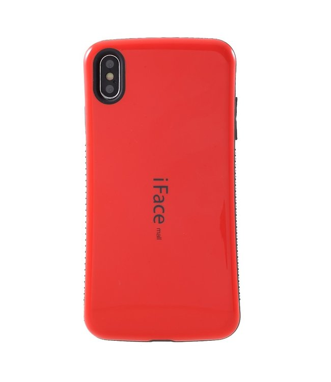 ZWC TPU hybride semi softcase voor iPhone XS Max 6.5 inch - ROOD - iFace