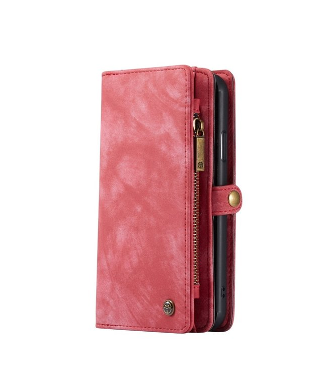 Caseme 2 in 1 Leren Wallet + Case - iPhone 11 6.1 inch - Rood - Caseme