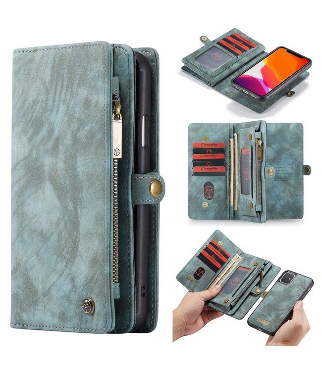Caseme 2 in 1 Leren Wallet + Case - iPhone 11 6.1 inch - Blauw - Caseme