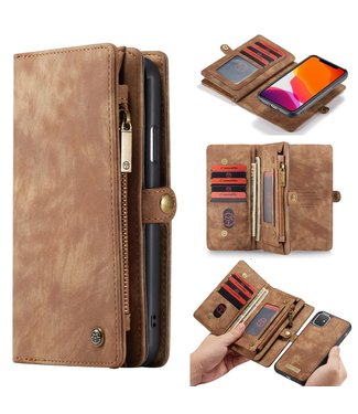 Caseme 2 in 1 Leren Wallet + Case - iPhone 11 6.1 inch - Bruin - Caseme