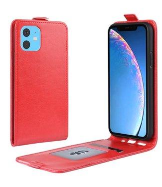 Crazy Horse Lederen flip cover / flipcase - iPhone 11 6.1 inch - Rood