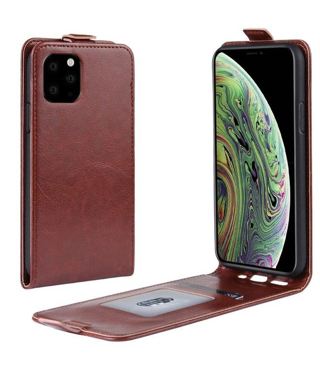 Crazy Horse Lederen flip cover / flipcase - iPhone 11 Pro 5.8 inch  - Bruin