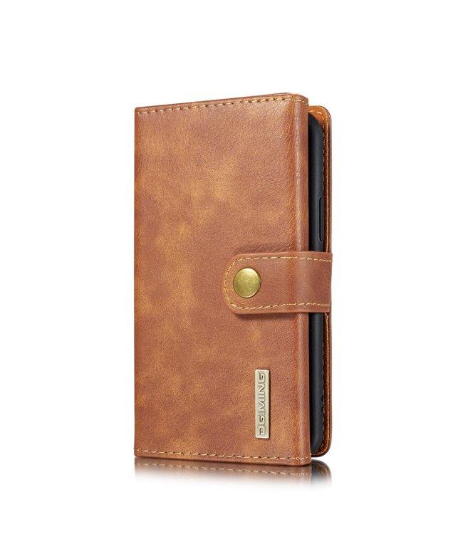 DG-Ming Leren Wallet Case - iPhone 11 Pro 5.8 inch - Retrostijl - Bruin - DG-Ming.