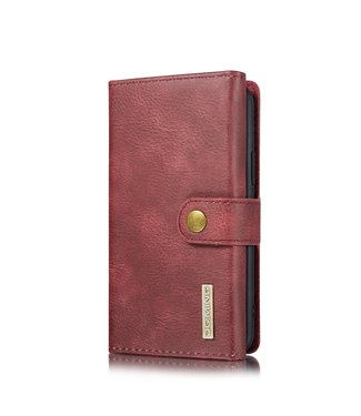DG-Ming Leren Wallet Case - iPhone 11 Pro 5.8 inch - Retrostijl - Donkerrood - DG-Ming.