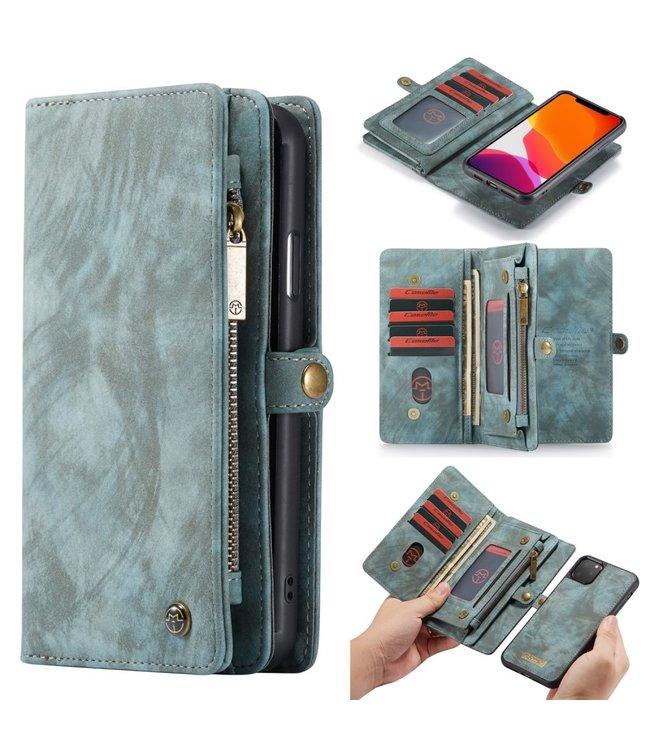 Caseme 2 in 1 Leren Wallet + Case - iPhone 11 Pro Max 6.5 inch - Blauw - Caseme