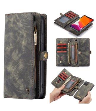 Caseme 2 in 1 Leren Wallet + Case - iPhone 11 Pro Max 6.5 inch - Grijs