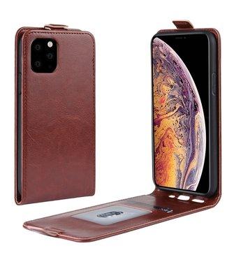 Crazy Horse Lederen flip cover / flipcase - iPhone 11 Pro Max 6.5 inch - Bruin