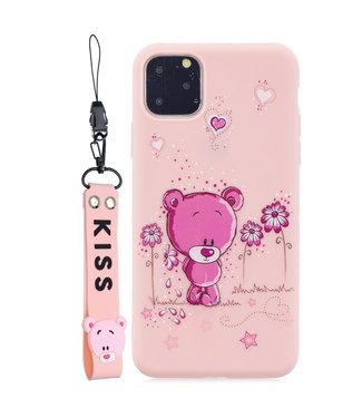 ZWC Cute TPU Softcase - iPhone 11 Pro Max 6.5 inch - Beer Patroon - Roze