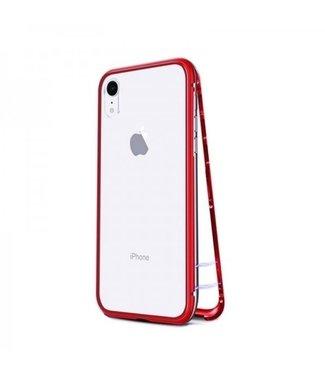 ZWC Magnetische Hardcase - iPhone XR Hoesje - Rood
