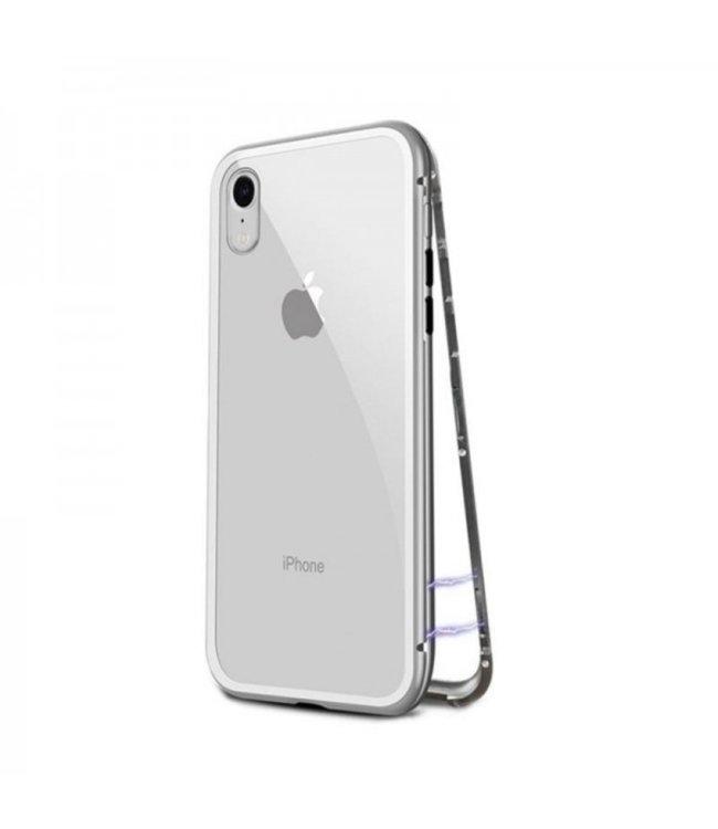 ZWC Magnetische Hardcase - iPhone XR Hoesje - Zilver