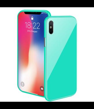 ZWC Magnetische Hardcase met gekleurde achterkant - iPhone XR Hoesje - Blauw