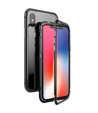 ZWC Magnetische Hardcase met doorzichtige achterkant- iPhone XR - Zwart