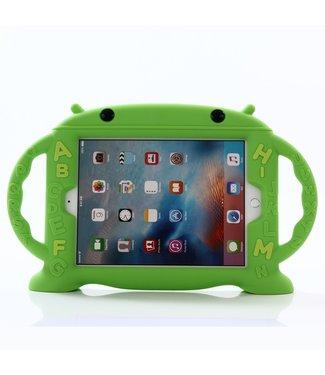 ZWC Silicone case - iPad 9.7 inch - Groen - Schattige Baby Monster