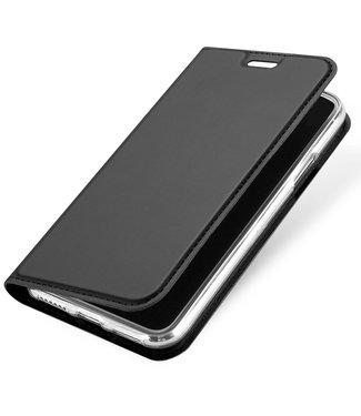 Dux Ducis Lederen case - iPhone X/XS - - Dux Ducis - Donkergrijs