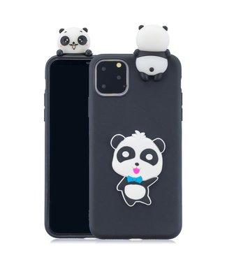 ZWC Speelse softcase met pandabeer voor iPhone 11 Pro 5.8 inch - Zwart