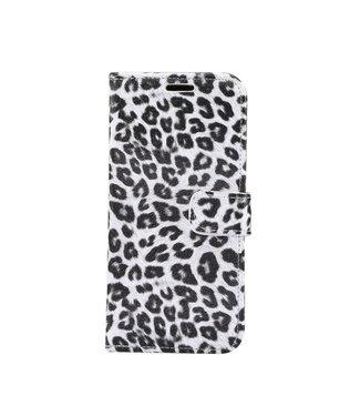ZWC iPhone cover/portemonnee met luipaardprint voor iPhone 11 6.1 inch-Wit