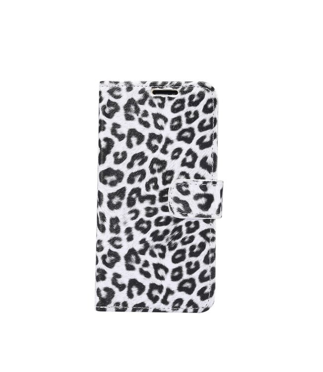 ZWC iPhone cover/portemonnee met luipaardprint voor iPhone 11 Pro Max- Wit