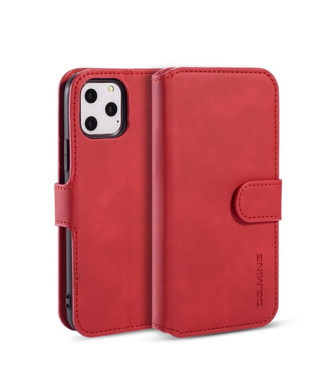DG-Ming iPhone cover/bookcase lederen portemonnee voor iPhone 11 Pro Max- Rood