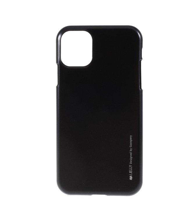 Goospery Flexibele Jelly iPhone cover voor iPhone 11 Pro Max- Zwart- Goospery