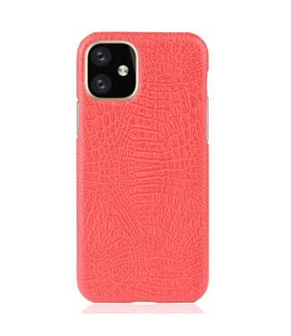 ZWC Hardcase met krokodil-textuur voor iPhone 11 6.1 inch - Rood
