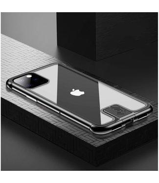 ZWC Stijlvolle cover met metalen frame voor iPhone 11 Pro 5.8 inch- Zwart