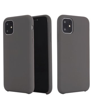 ZWC Softcase silicone iPhone 11 6.1 inch - donkergrijs