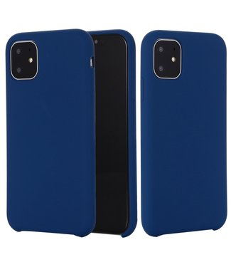 ZWC Softcase silicone voor iPhone 11 6.1 inch - donkerblauw
