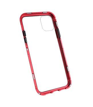 ZWC Hardcase met metalen frame voor iPhone 11 6.1 inch - Rood