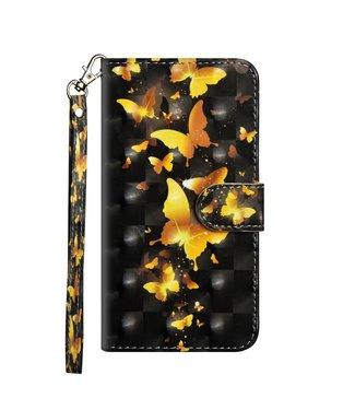 ZWC Bookcase met romantische vlinders voor iPhone 11 6.1 inch - Zwart