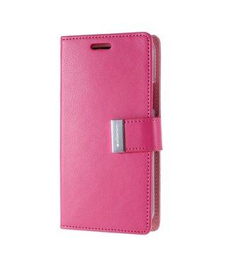 Goospery Bookcase met kaarthouder voor iPhone 11 - roze