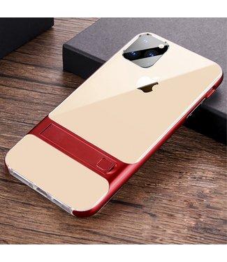 ZWC Softcase met aluminium omranding voor iPhone 11 - rood