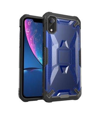 ZWC Moderne en schokbestendige cover voor iPhone XR 6.1 inch - Zwart/Blauw