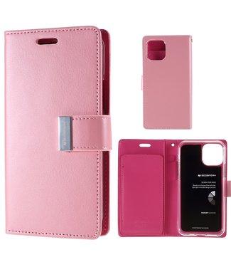 Goospery Bookcase voor iPhone 11 Pro Max - roze