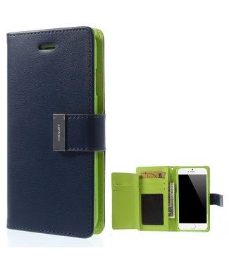 Goospery Bookcase voor iPhone 6 - 6S - blauw