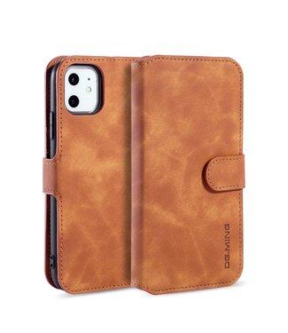 DG-Ming Leren Wallet Case - iPhone 11 6.1 inch - Retro - Bruin