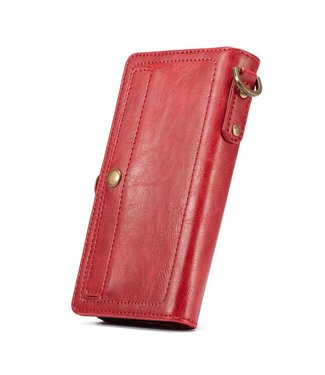 Caseme Afneembare 2-in-1 Lederen Wallet Case- iPhone X/Xs 5.8 inch- Rood