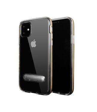 ZWC Hybrid Softcase met standaard - iPhone 11 6.1 inch- Zilver/doorzichtig
