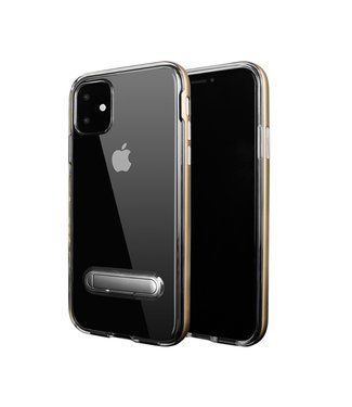 ZWC Hybrid Softcase met standaard - iPhone 11 Pro Max- Zilver/transparant