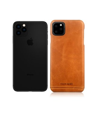 Pierre Cardin Lederen cover voor iPhone 11 Pro Max 6.5 inch-Lichtbruin-Pierre Cardin