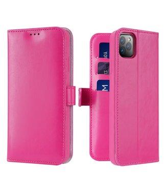 Dux Ducis Lederen Wallet Case voor iPhone 11 Pro Max 6.5 inch- Roze - Dux Ducis