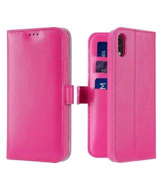 Dux Ducis Lederen Wallet Case voor iPhone XR 6.1 inch- Roze - Dux Ducis